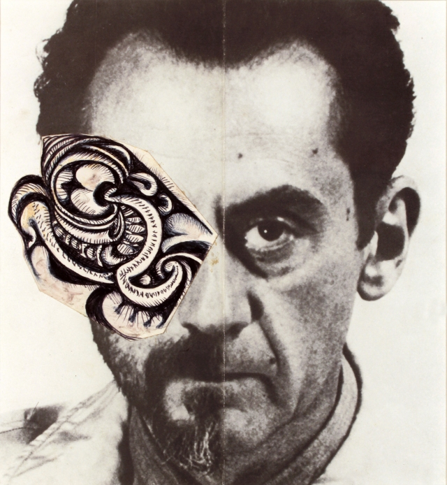 """Jean-Jacques Lebel, """"Portrait of Man Ray"""" (1962)"""